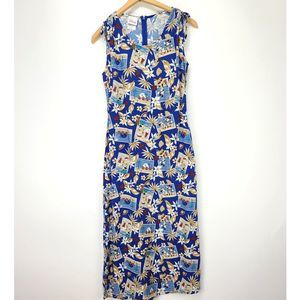Disney Mickey Minnie Hawaiian Maxi Dress